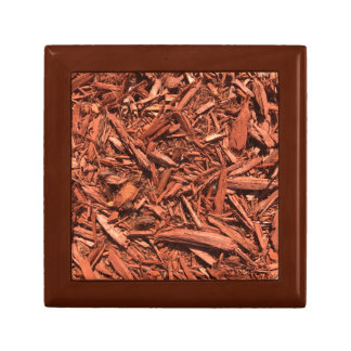 Large red cedar mulch pattern landscape contractor gift box