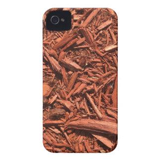 Large red cedar mulch pattern landscape contractor iPhone 4 Case-Mate cases