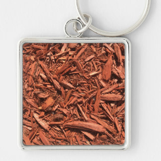 Large red cedar mulch pattern landscape contractor key ring