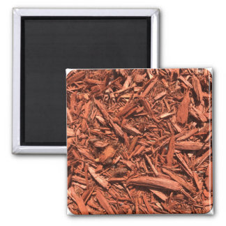 Large red cedar mulch pattern landscape contractor magnet