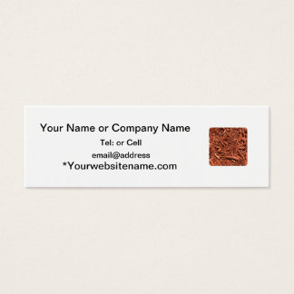 Large red cedar mulch pattern landscape contractor mini business card