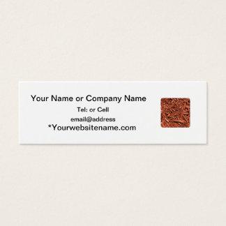 Large red cedar mulch pattern landscape contractor mini business card