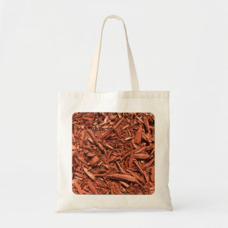 Large red cedar mulch pattern landscape contractor tote bag
