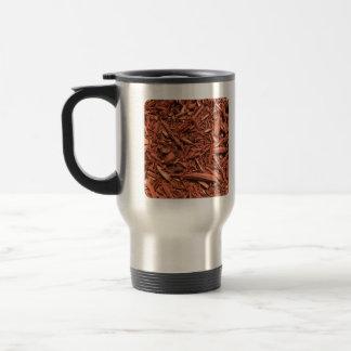 Large red cedar mulch pattern landscape contractor travel mug