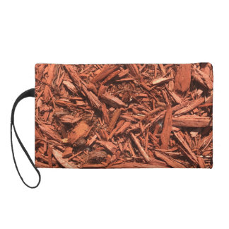 Large red cedar mulch pattern landscape contractor wristlet