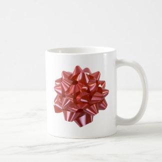 Large Red Christmas Present Bow ribbon Mugs