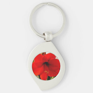 LARGE RED FLOWER keychain