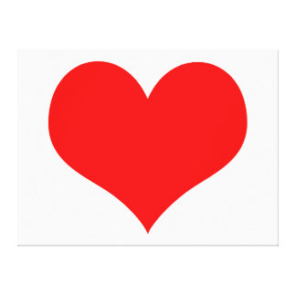 """Large Red Heart - 49"""" x 37"""" Wrapped Canvas Gallery Wrap Canvas"""