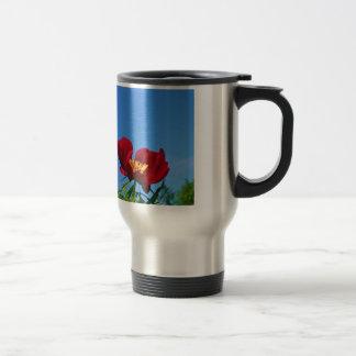 Large Red Poppy Photo Mug