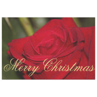 Large Red Rose Christmas Tissue Paper