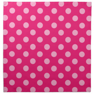Large retro dots - pink on a hot pink background napkin