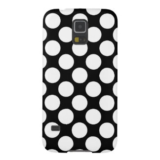 Large retro dots - white and black galaxy s5 case