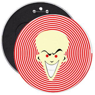 Large Retro Toon Optical Illusion Hypnotizer Guy 6 Cm Round Badge