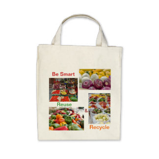 Large reusable canvas grocery shopping bag