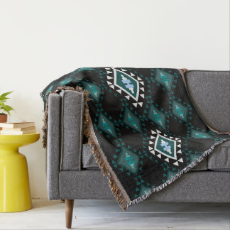 Large Rhombus Trendy Geometric Throw Blanket