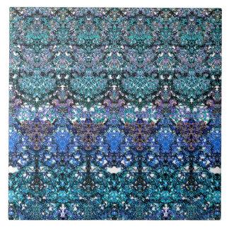 Large romantic laced turquoise ornament arabesque tile