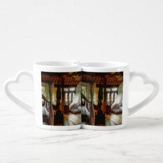 Large room in a resort lovers mug sets