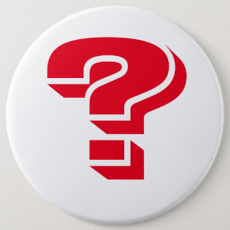 LARGE, ROUND, SUFFRAGETTE WHITE BUTTON WITH RED ?