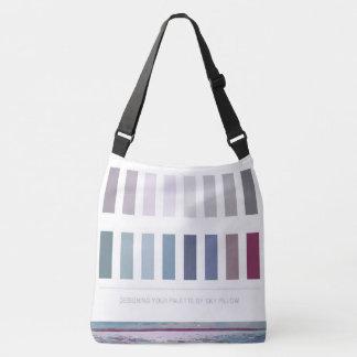 Large Seascape Interior Design Color Palette Crossbody Bag
