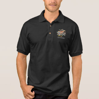 Large-sized fresh water characteristic tropical polo shirts
