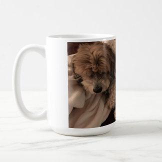 Large sleeping fuzzy MyMutt coffee mug