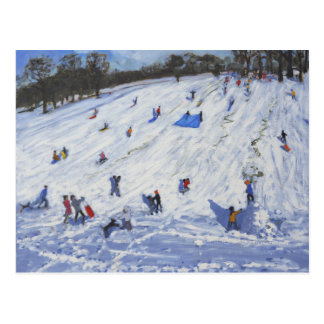 Large snowman Chatsworth 2012 Postcard