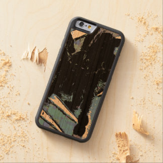 Large spider on metal surface carved cherry iPhone 6 bumper case