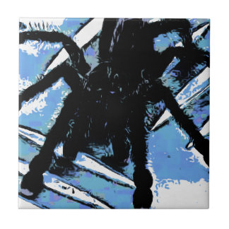 Large spider on metal surface ceramic tile