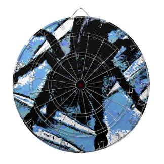 Large spider on metal surface dartboard