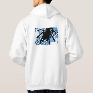 Large spider on metal surface hoodie