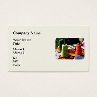 Large Spools of Thread Business Card