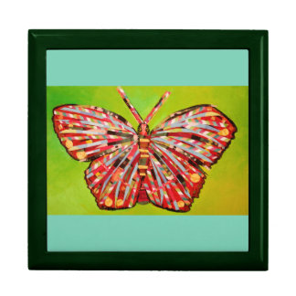 Large Square Gift Box with Brilliant Butterfly