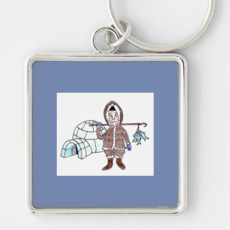 LARGE SQUARE KEY CHAIN - ESKIMO