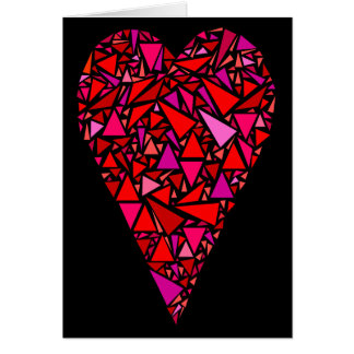 Large Stained Glass Heart Valentine Greeting Card
