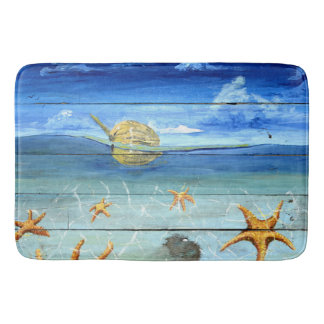 Large Starfish Sky Bath Mat by Yotigo