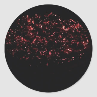 Large Sticker- Pan of Hot Embers (sheet of 6) Classic Round Sticker