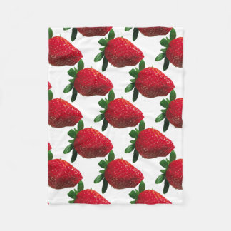 Large Strawberry Fleece Blanket