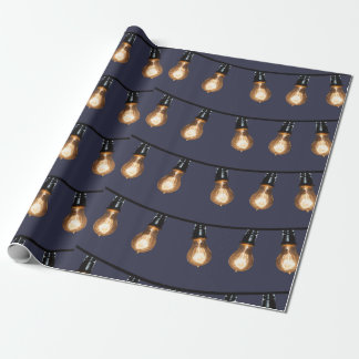 Large String Light bulbs Wrapping Paper
