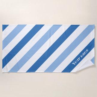 Large stripes name beach towel