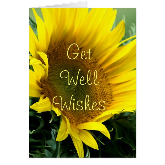 Large Sunflower Get Well or any occasion-customise Card