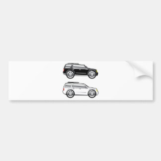 Large SUV stylized with large chrome Rims Vector Bumper Sticker