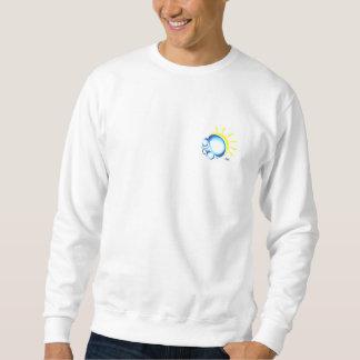 Large sweat logo pull over sweatshirt