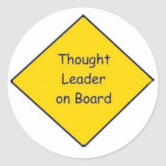 Large Thought Leader on Board (3 inch) Classic Round Sticker