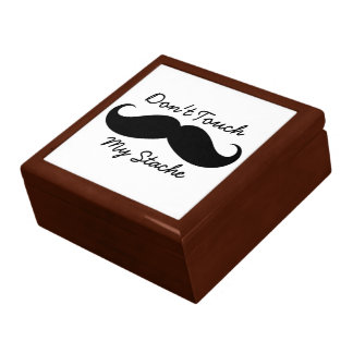 Large Tile Gift Box - Don't Touch My Stache