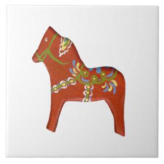 Large Tile with Dala Horse