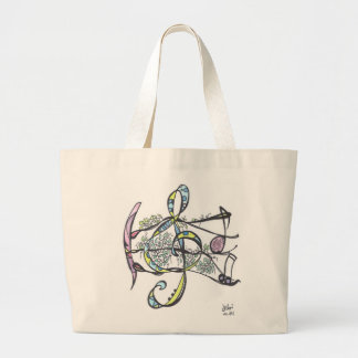 large tote--ivy treble clef large tote bag