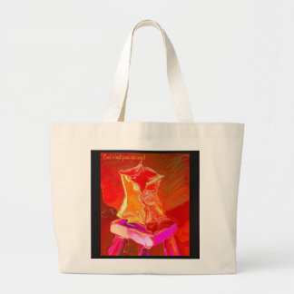 Large Tote with Bag Illustration