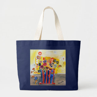large tote with one of my floral paintings