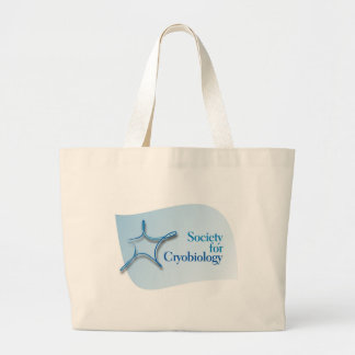 Large Tote with Society for Cryobiology Logo Tote Bags