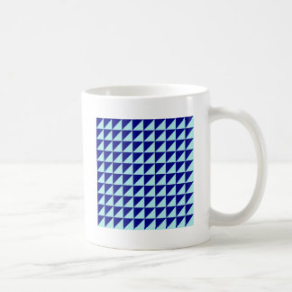 Large Triangles - Pale Blue and Navy Blue Coffee Mugs
